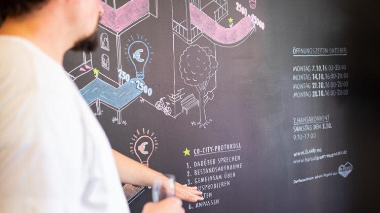 Die Betreuung von Projektideen erfolgt entlang des Co-City-Protocols in der Hansa-Bude