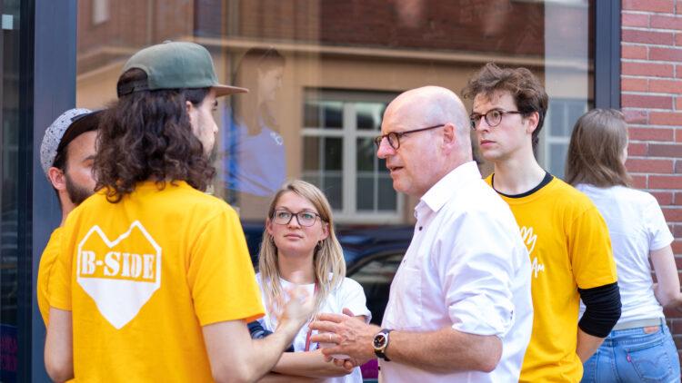 OB Markus Lewe zu Besuch in der Hansa-Bude